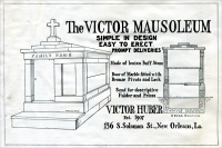 The Victor Huber Mausoleum, advertisement from Granite Marble & Bronze, October 1920, pp. 57