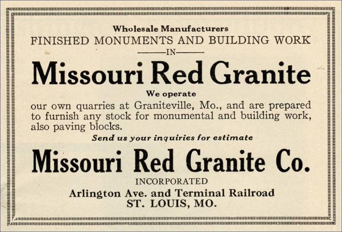 Missouri Red Granite : Missouri quarry links and photographs