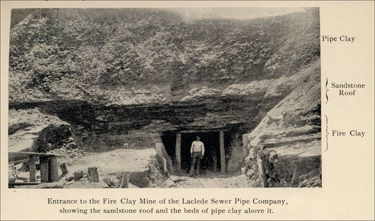 Fire Clay Mine : The clay stone lime and sand industries of st louis