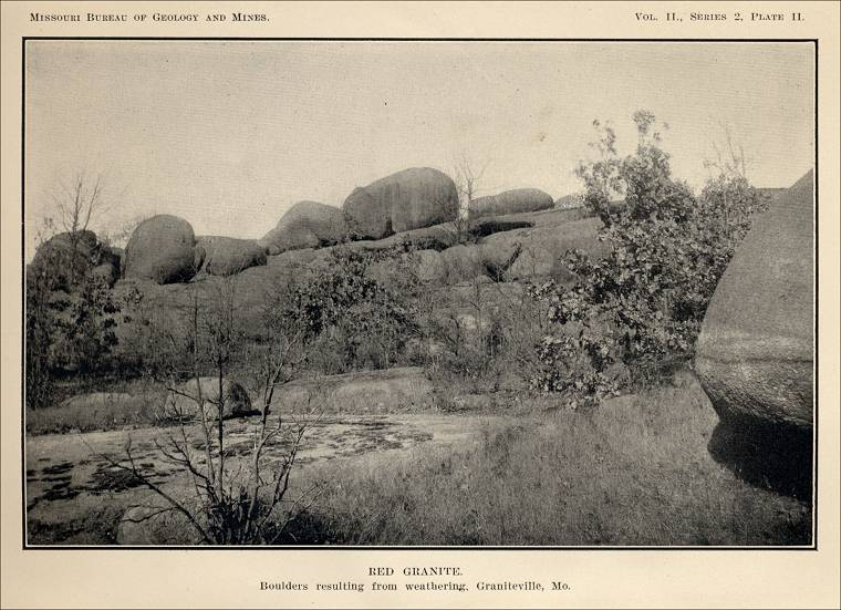 Missouri Red Granite : Missouri quarry links and photographs