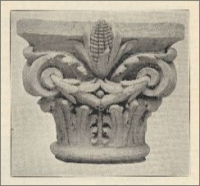 """Reproduction rom the model of the """"more or less conventional style of carving shown on the original plans have been changed by the eminent artist Carl Rohlsmith…."""" (on the Iowa State Soldiers' Monument) (1894)"""
