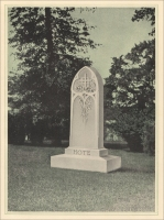 The Hote Memorial, pp. 65 of Modern Memorials in Marble, Vermont Marble Co., 1922
