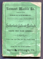 Front cover of Vermont Marble Company Producers and Finishers of Sutherland Falls and Rutland White and Blue Marble, 1882 Price List