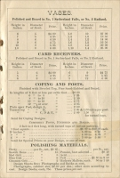 Page 7 of Vermont Marble Company Producers and Finishers of Sutherland Falls and Rutland White and Blue Marble, 1882 Price List