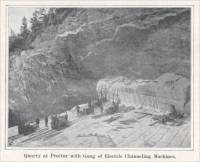 """Quarry at Proctor with Gang of Electric Channeling Machines."" (circa 1904)"