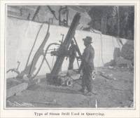 """Type of Steam Drill Used in Quarrying."" (circa 1904)"