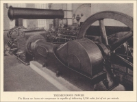 """Tremendous Power. The Rock of Ages air compressor is capable of delivering 3,700 cubic feet of air per minute"" in The Story of the Rock of Ages, 1925"