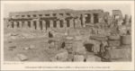 """Colonnaded Hall at Karnak with square pillars and columns with lotus-bud capitals. Ewing Galloway, N.Y. (1923)"