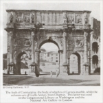 """The Arch of Constantine, the body of which is of Carrara marble, while the columns are of Giallo Antico, from Chepton."""