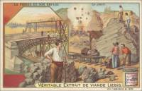 French Trade Card - Granite Quarrying, front (ca 1903)