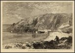 Granite Quarries at Lamorna Cove, Cornwall, England (ca 1873)