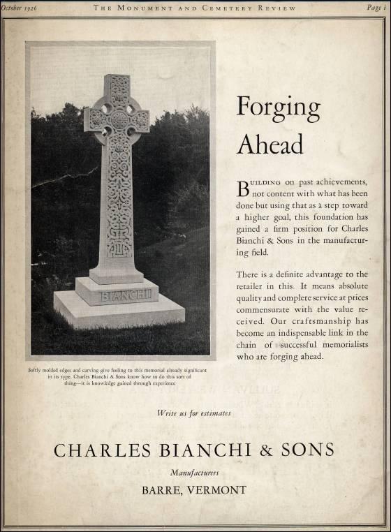 Quarry To Cemetery Stone Advertising Cemetery Stones