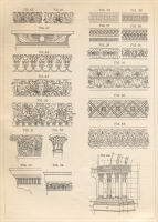 "Moulding designs from Part 2 of ""The Decoration of Mouldings,"" ""The Monumental News,"" July 1905"