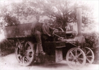 Enderby and Stoney Granite Company Steam Cart, Leicestershire, UK (photograph, circa 1903)