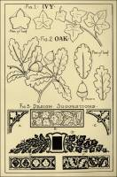 "Oak & Ivy Patterns in ""Monumental Drawing and Lettering: The Oak and Ivy in Applied Ornament"" (1926)"