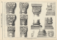 "Romanesque carving details (""The Monumental News,"" July 1895)"