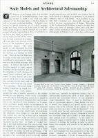 """""""Scale Models and Architectural Salesmanship,"""" in Stone, September 1925, pp. 539."""