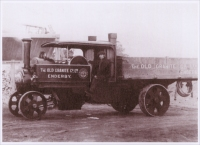 The Old Granite Company, Ltd., Steam Lorry, Enderby, Leicestershire, England (1904 photograph)
