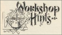 """""""Workshop Hints,"""" in The Monumental News, April, 1895, pp. 258."""