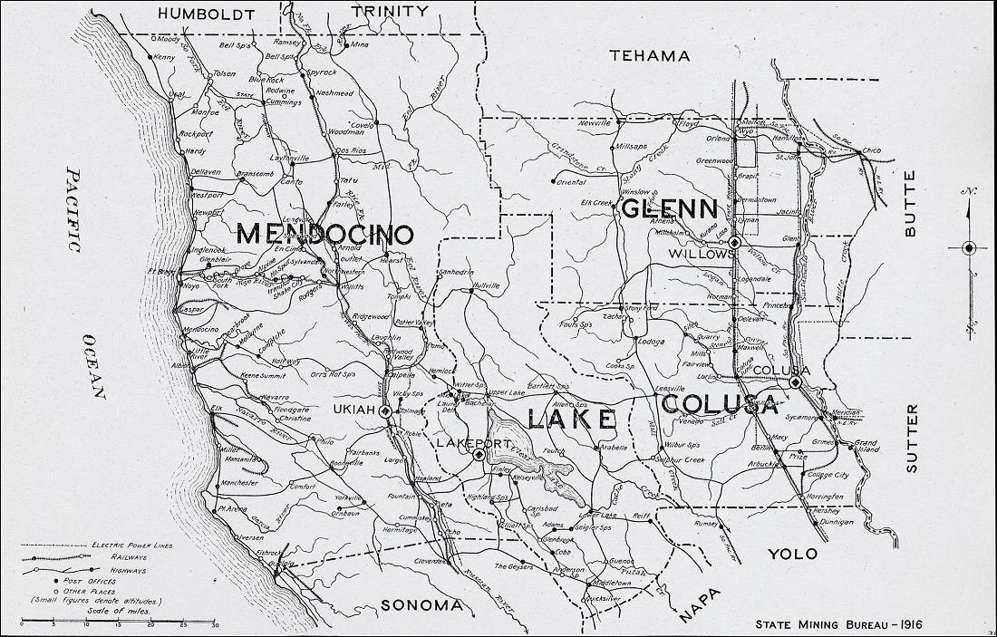Image Result For Map Mendocino County