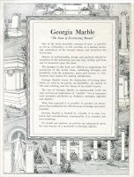 "Title page from ""Memorials in Georgia Marble – Eclipse Designs"" Georgia Marble Company, Tate, Georgia – circa 1920."