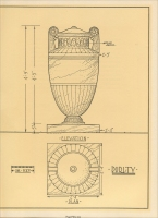"Diagram of the Purity Urn from ""Memorials: To-Day, For To-Morrow,"" by William H. Deacy, the Georgia Marble Co. (pp. 52)"