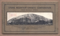 Front cover of the Stone Mountain Granite Corporation booklet