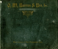 Front cover of O. M. Burrus & Bros. Inc., Monumental Catalog, Burlington, Iowa