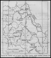 Outline Map of Custer and Lemhi Counties, Idaho