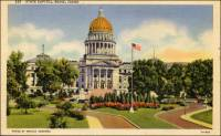 Colorized postcard showing the Idaho State Capitol in the early 1900's