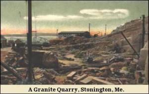 A Granite Quarry, Stonington Me.
