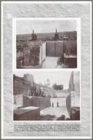"""Two views of quarrying operations showing with what precision the great blocks are channeled out and broken up."" 1920"