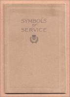 "Front cover of ""Symbols of Service,"" one of the monumental catalogs by the Vermont Marble Co., Proctor, Vermont"