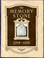 "Front cover of ""The Memory Stone 1768-1926,"" Vermont Marble Co., Proctor, Vermont"
