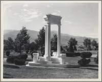 Wilson Memorial, Evergreen Cemetery, Colorado Springs, Colo. For the first city manager of Colorado Spring, 1940
